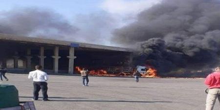 انفجار شاحنة في معبر نصيب بين سوريا والأردن